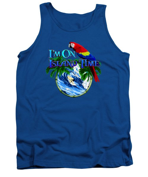 Island Time Surfing Tank Top by Chris MacDonald