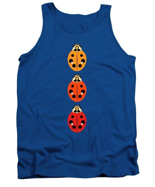 Ladybug Trio Vertical Tank Top by MM Anderson