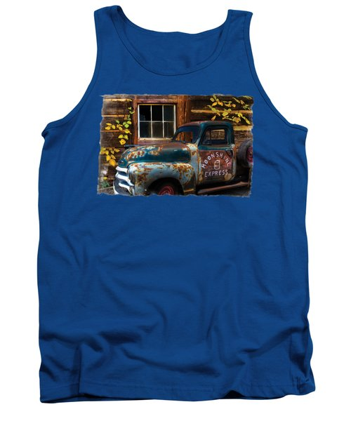 Moonshine Express Bordered Tank Top by Debra and Dave Vanderlaan