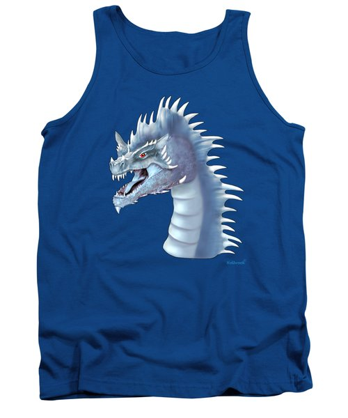 Mystical Ice Dragon Tank Top by Glenn Holbrook