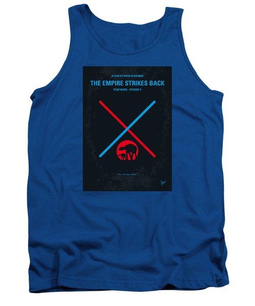 No155 My Star Wars Episode V The Empire Strikes Back Minimal Movie Poster Tank Top by Chungkong Art