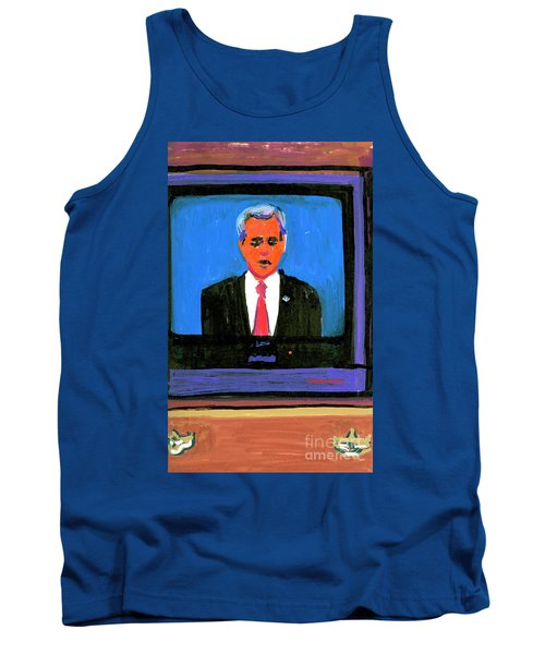 President George Bush Debate 2004 Tank Top by Candace Lovely