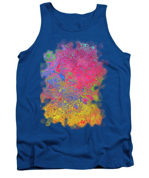 Psychedelic Laundry Transparent Design Tank Top by Shelly Weingart