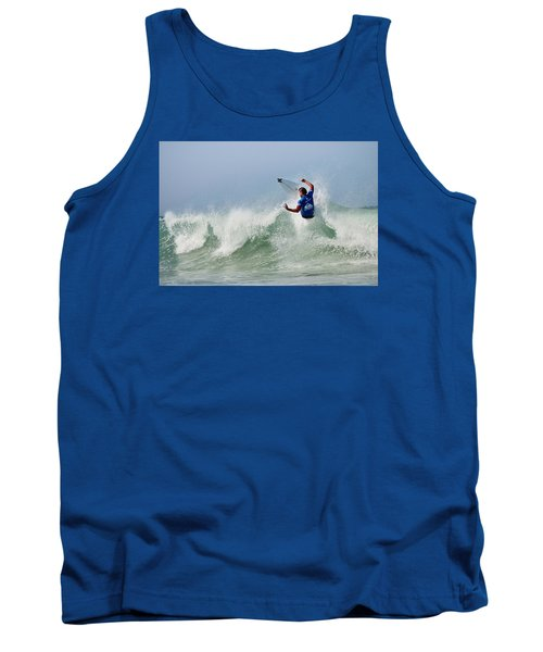 Tank Top featuring the photograph Quiksilver Pro France I by Thierry Bouriat