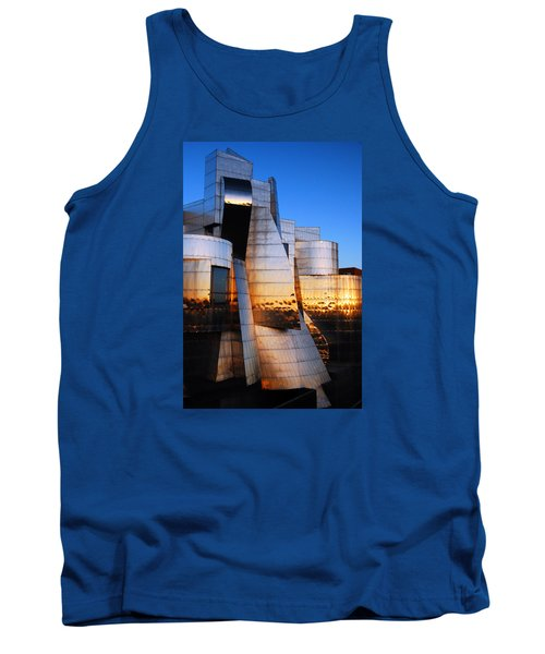 Reflections Of Sunset Tank Top by James Kirkikis