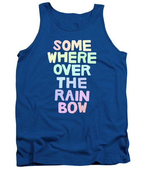 Somewhere Over The Rainbow Tank Top by Priscilla Wolfe