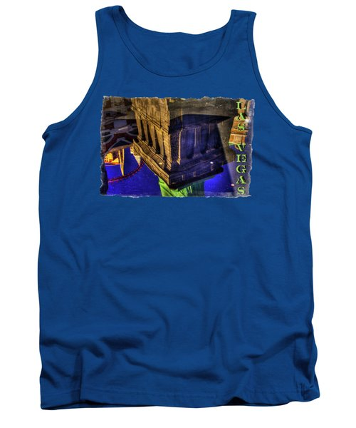 Statue Of Liberty Las Vegas Reflections Tank Top by Roger Passman