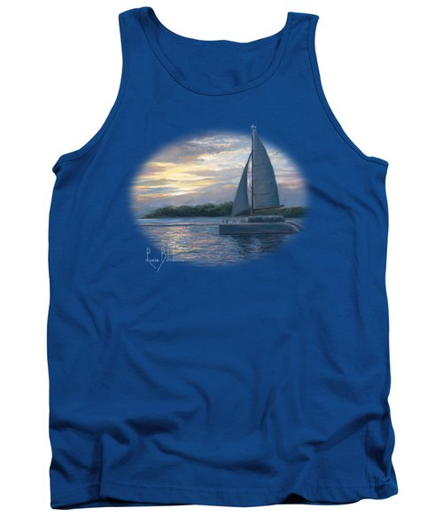 Sunset In Key West Tank Top by Lucie Bilodeau