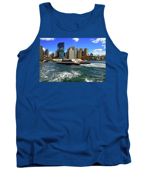 Sydney Skyline From Harbor By Kaye Menner Tank Top by Kaye Menner