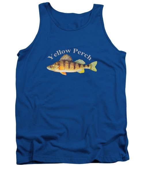 Yellow Perch Fish By Dehner Tank Top by T Shirts R Us -