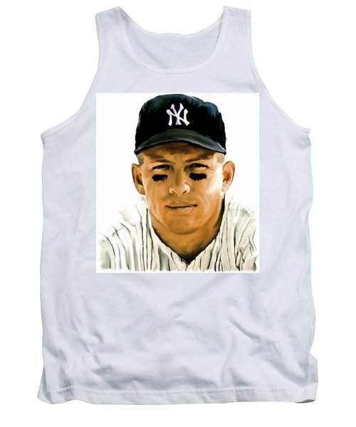American Icon Mickey Mantle Tank Top by Iconic Images Art Gallery David Pucciarelli