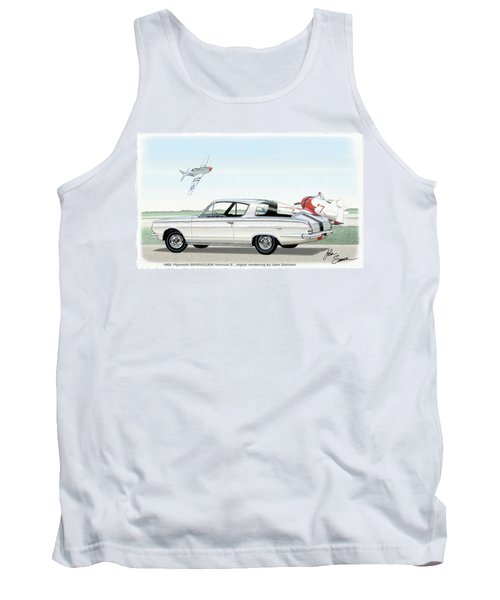 1965 Barracuda  Classic Plymouth Muscle Car Tank Top by John Samsen