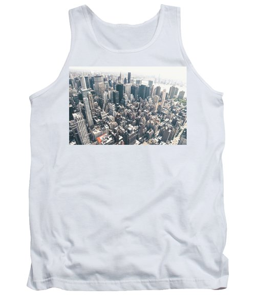 New York City From Above Tank Top by Vivienne Gucwa