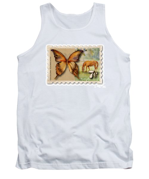 7 Cent Butterfly Stamp Tank Top by Amy Kirkpatrick