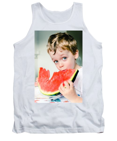 A Slice Of Life Tank Top by Marco Oliveira