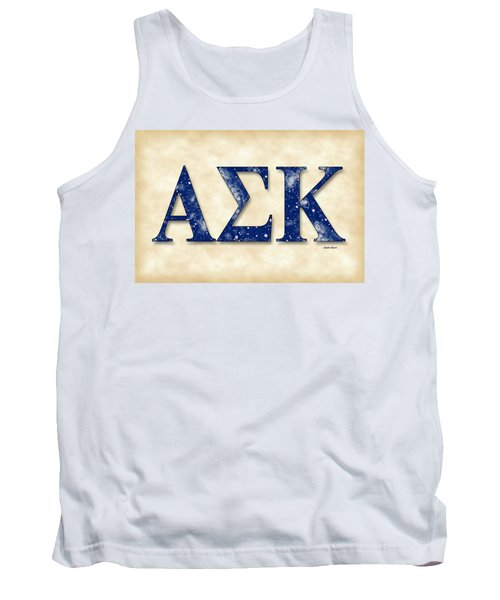 Alpha Sigma Kappa - Parchment Tank Top by Stephen Younts