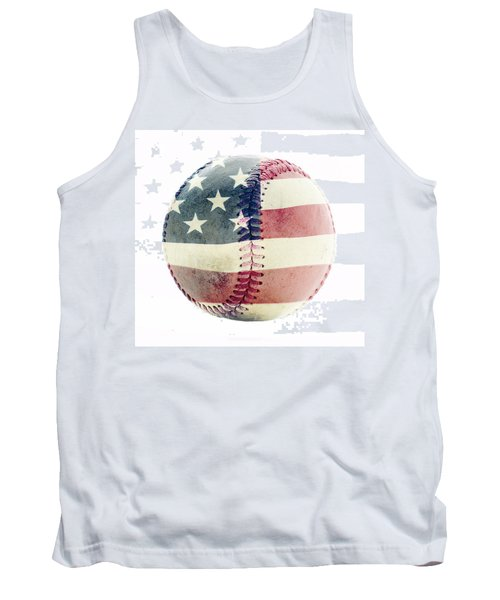 American Baseball Tank Top by Terry DeLuco