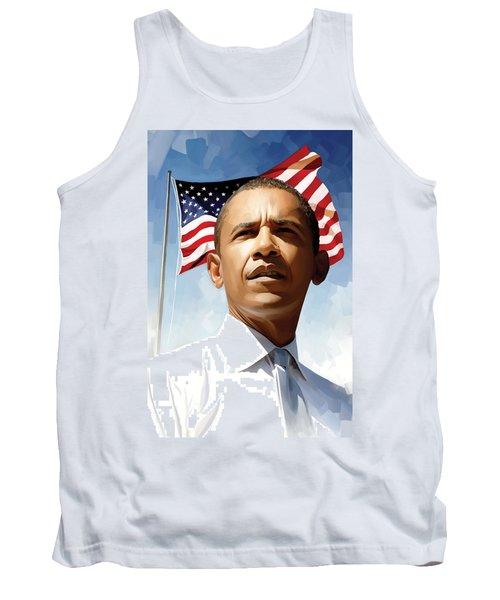 Barack Obama Artwork 1 Tank Top by Sheraz A