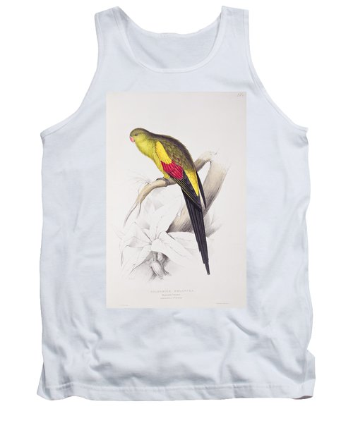 Black Tailed Parakeet Tank Top by Edward Lear