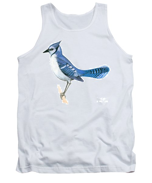 Blue Jay  Tank Top by Anonymous