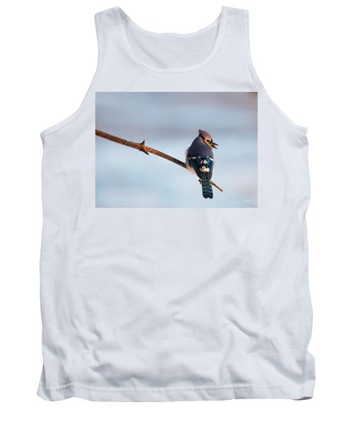 Blue Jay With Nuts Tank Top by Everet Regal