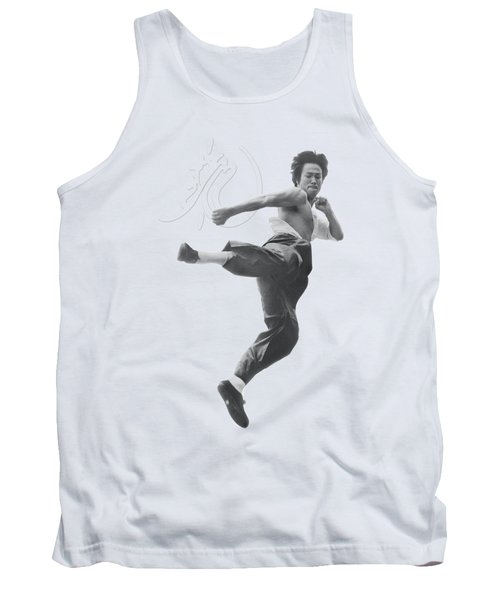 Bruce Lee - Flying Kick Tank Top by Brand A