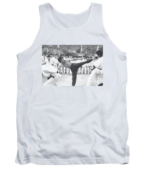 Bruce Lee - Kick To The Head Tank Top by Brand A
