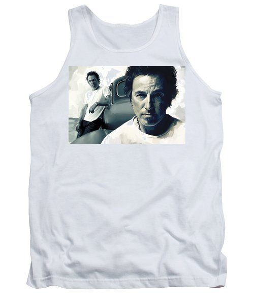 Bruce Springsteen The Boss Artwork 1 Tank Top by Sheraz A