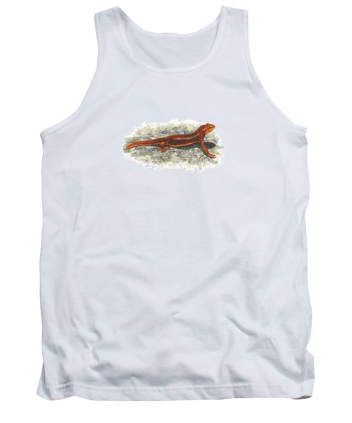 California Newt Tank Top by Cindy Hitchcock