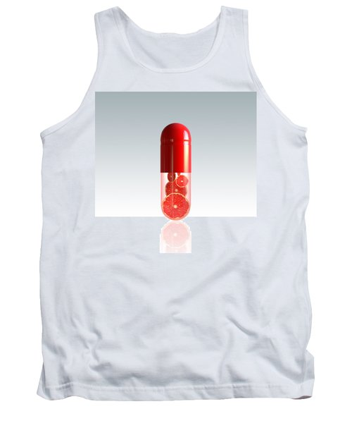 Capsule With Citrus Fruit Tank Top by Johan Swanepoel