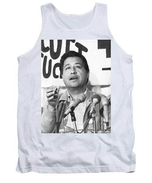 Cesar Chavez Announces Boycott Tank Top by Underwood Archives