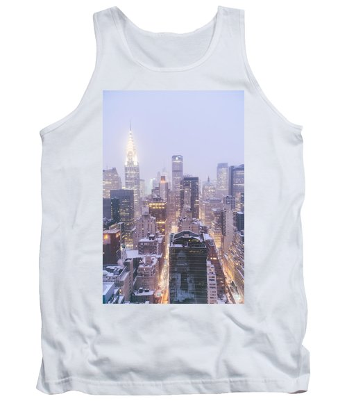 Chrysler Building And Skyscrapers Covered In Snow - New York City Tank Top by Vivienne Gucwa