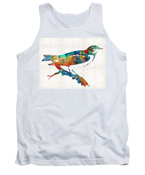 Colorful Bird Art - Sweet Song - By Sharon Cummings Tank Top by Sharon Cummings