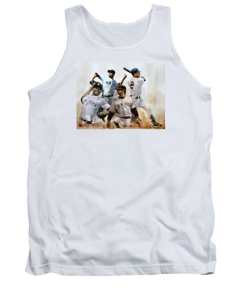 Core  Derek Jeter Mariano Rivera  Andy Pettitte Jorge Posada Tank Top by Iconic Images Art Gallery David Pucciarelli