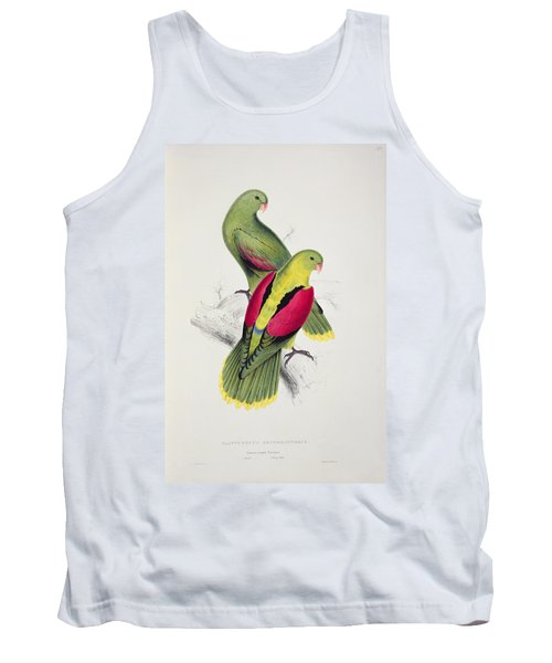 Crimson Winged Parakeet Tank Top by Edward Lear