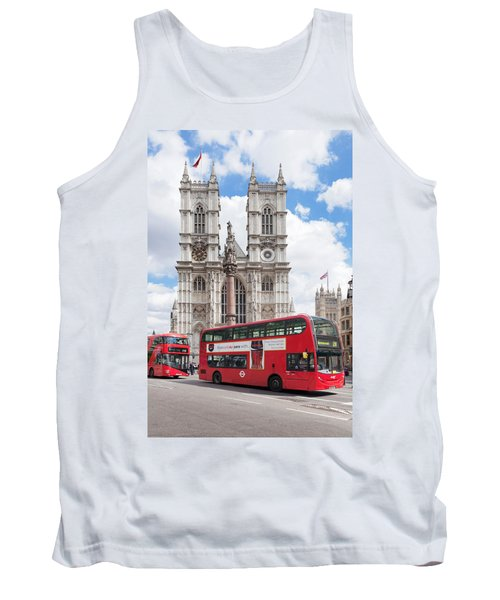 Double-decker Buses Passing Tank Top by Panoramic Images