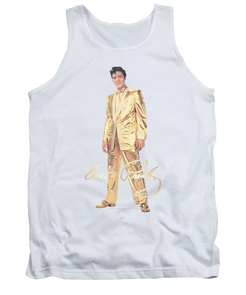 Elvis - Gold Lame Suit Tank Top by Brand A
