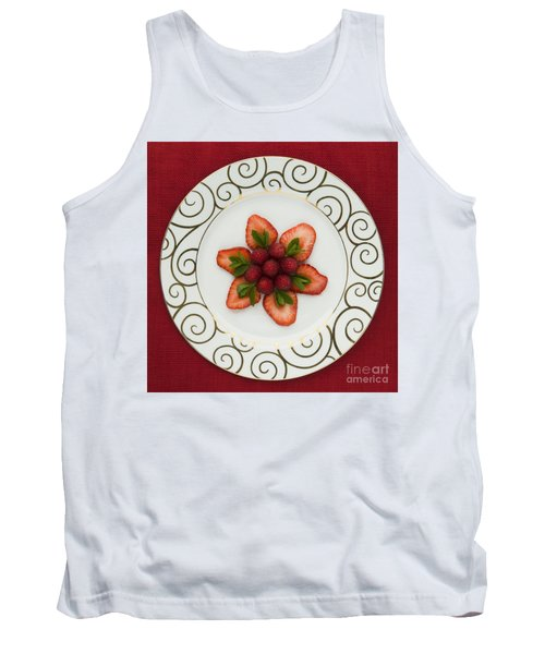 Flowering Fruits Tank Top by Anne Gilbert