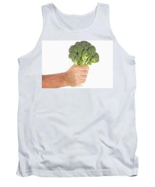 Hand Holding Broccoli Tank Top by James BO  Insogna