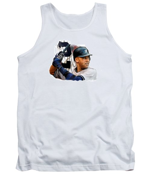 Jeter II  Derek Jeter Tank Top by Iconic Images Art Gallery David Pucciarelli