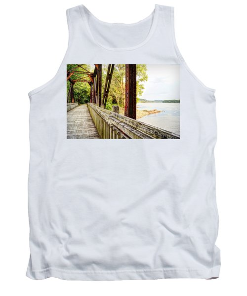 Katy Trail Near Coopers Landing Tank Top by Cricket Hackmann