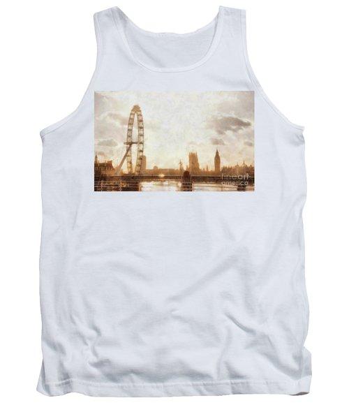 London Skyline At Dusk 01 Tank Top by Pixel  Chimp