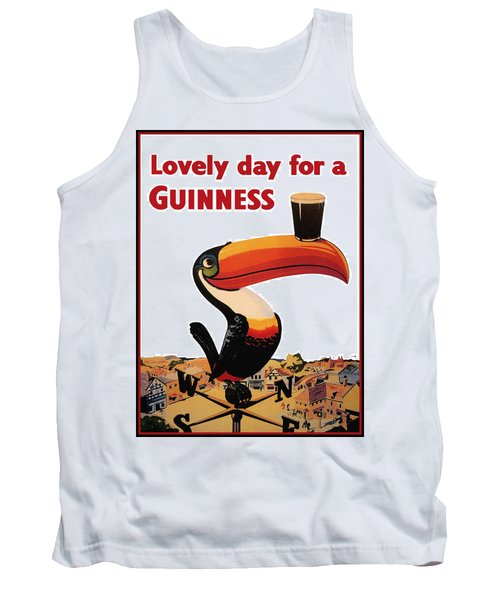 Lovely Day For A Guinness Tank Top by Nomad Art