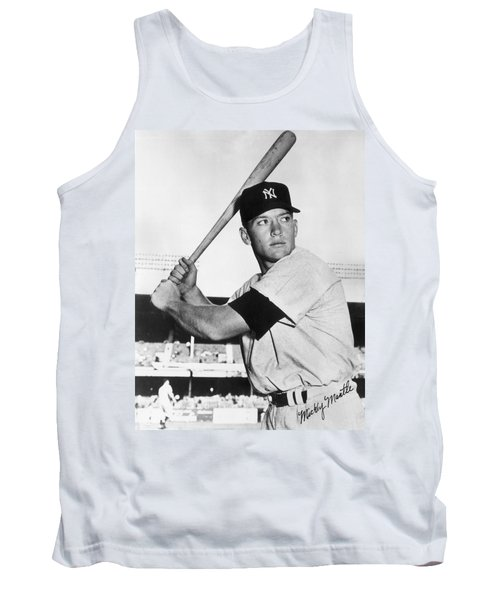 Mickey Mantle At-bat Tank Top by Gianfranco Weiss