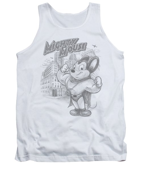 Mighty Mouse - Protect And Serve Tank Top by Brand A