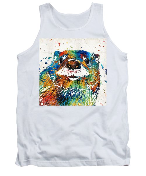 Otter Art - Ottertude - By Sharon Cummings Tank Top by Sharon Cummings