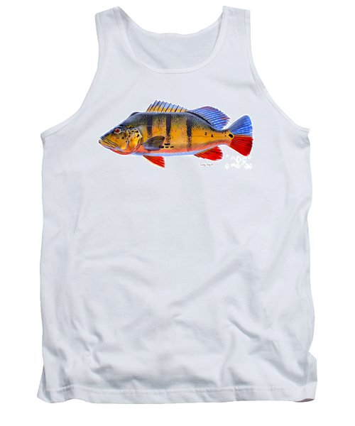 Peacock Bass Tank Top by Carey Chen