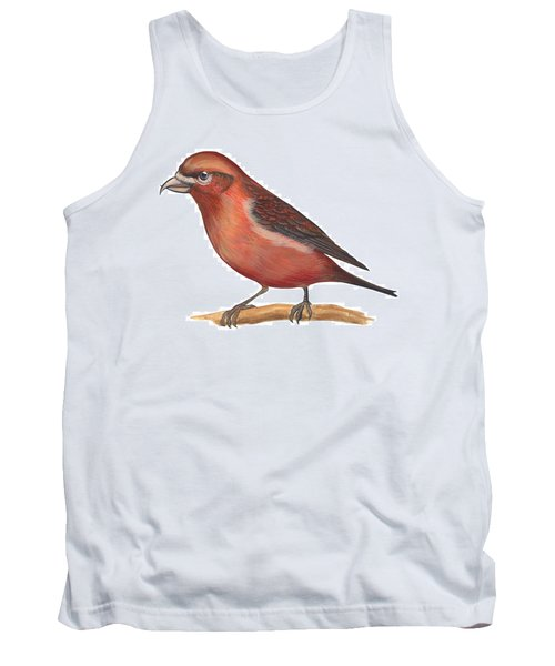 Red Crossbill Tank Top by Anonymous