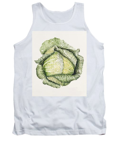 Savoy Cabbage  Tank Top by Alison Cooper