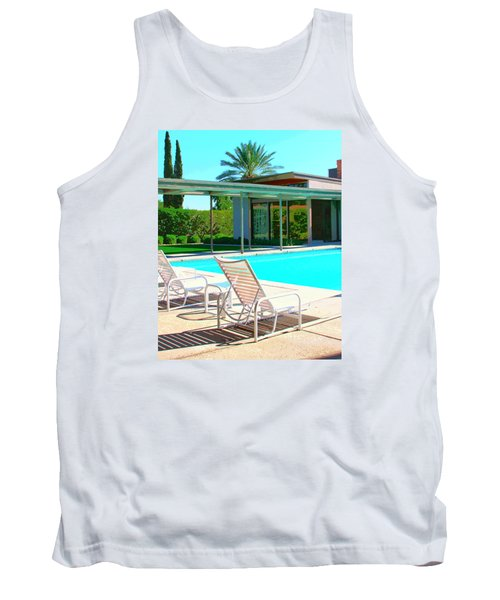 Sinatra Pool Palm Springs Tank Top by William Dey